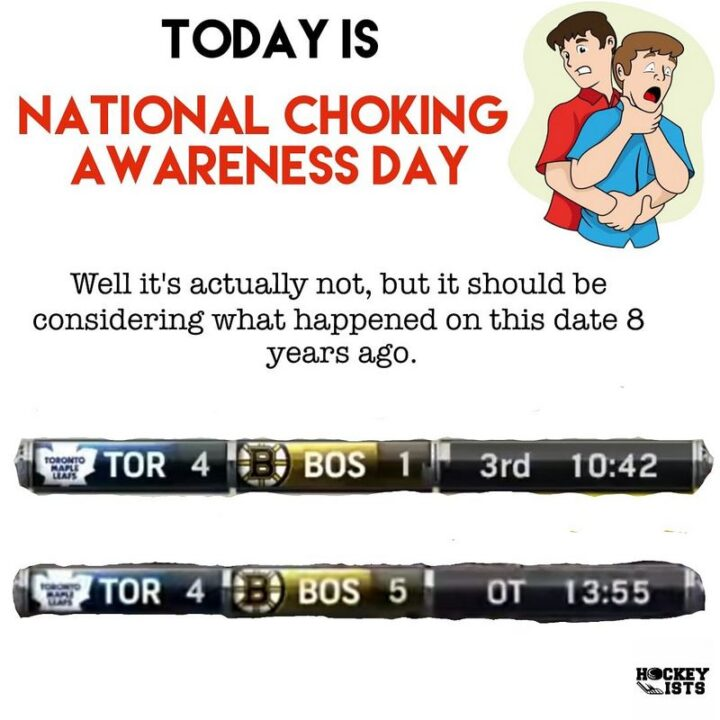 """""""Today is national choking awareness day. Well, it's actually not, but it should be considering what happened on this date 8 years ago."""""""