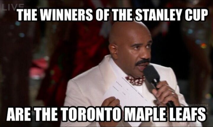 """""""The winners of the Stanley Cup are the Toronto Maple Leafs."""""""
