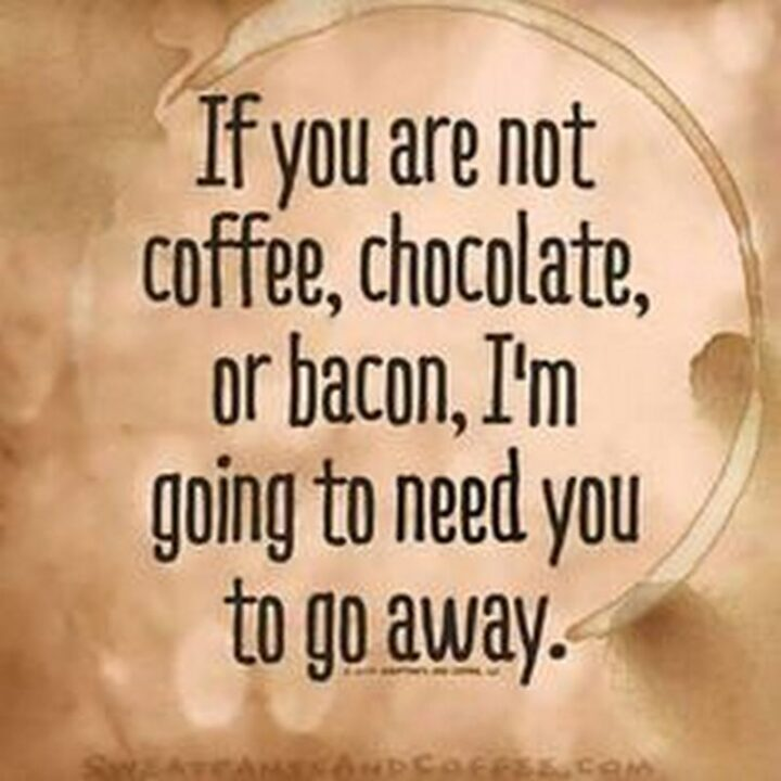 """""""If you are not coffee, chocolate, or bacon, I'm going to need you to go away."""""""