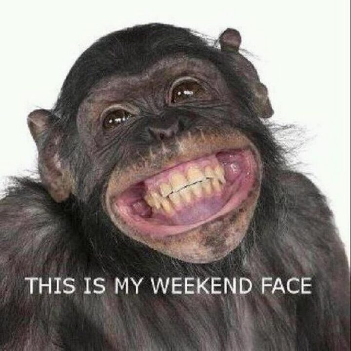 """""""This is my weekend face."""""""