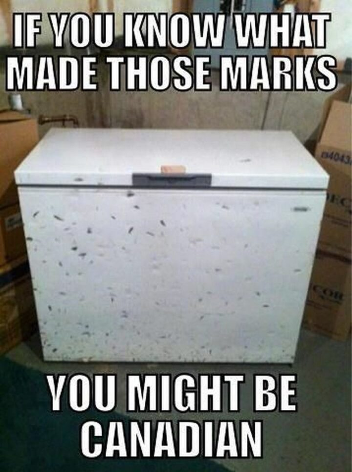 """""""If you know what made those marks, you might be Canadian."""""""