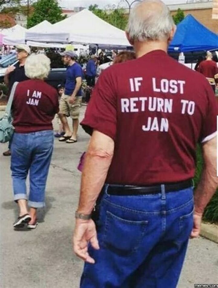 """If lost return to Jan. I am Jan."""