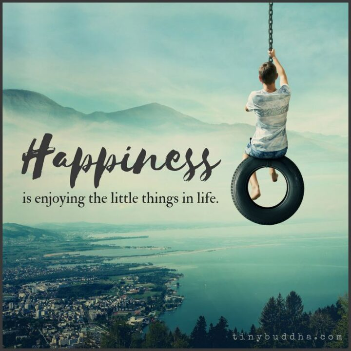 """""""Happiness is enjoying the little things in life."""""""