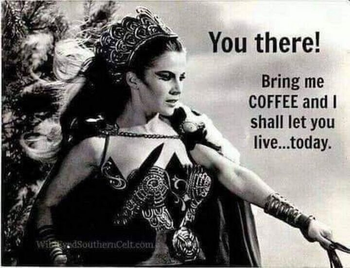 """""""You there! Bring me coffee and I shall let you live...today."""""""