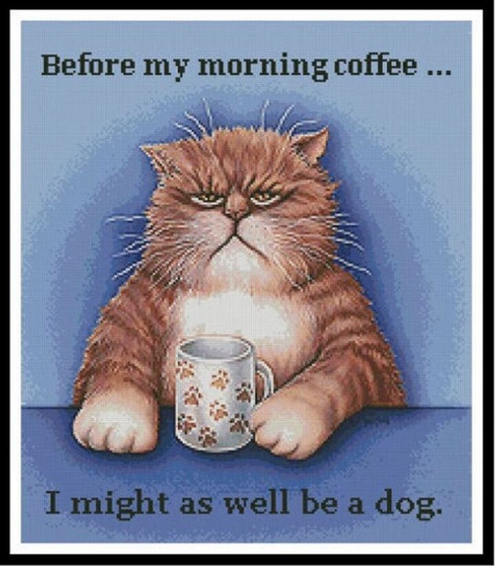"""""""Before my morning coffee...I might as well be a dog."""""""