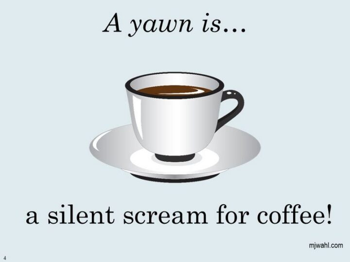 """""""A yawn is...A silent scream for coffee!"""""""