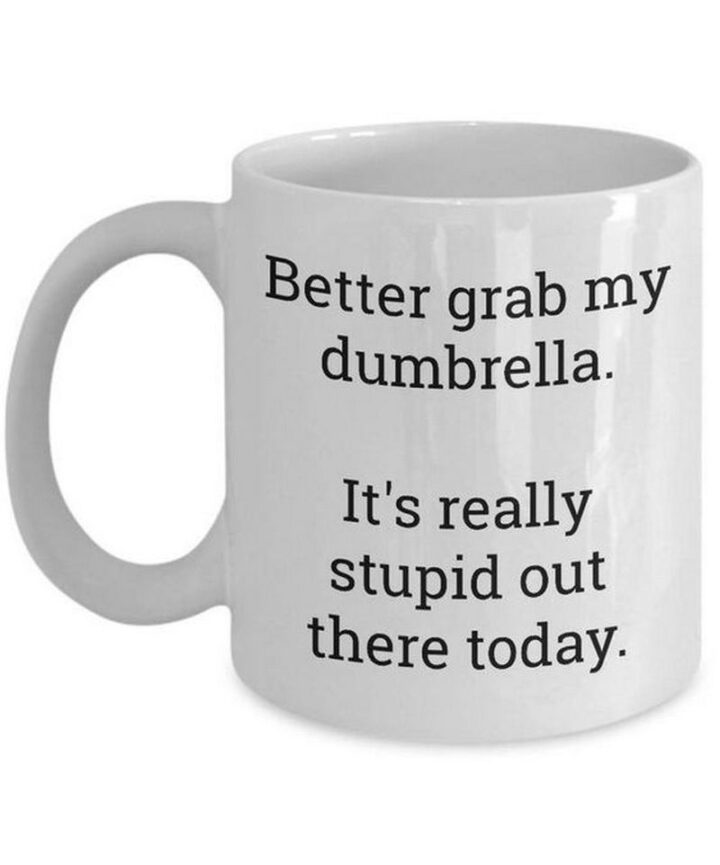 """65 Funny Sarcastic Memes - """"Better grab my dumbrella. It's really stupid out there today."""""""