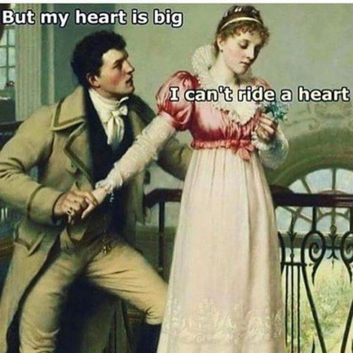 """65 Funny Sarcastic Memes - """"But my heart is big. I can't ride a heart."""""""