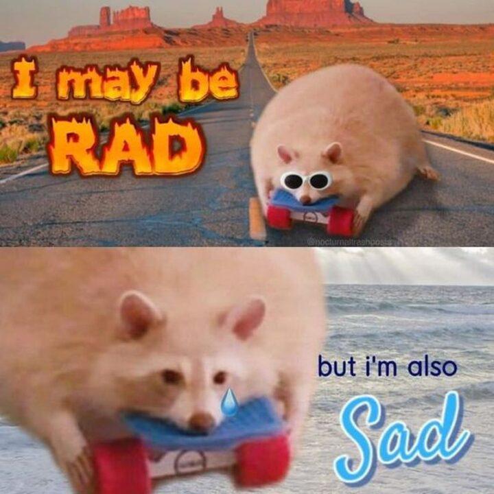 """""""I may be rad but I'm also sad."""""""