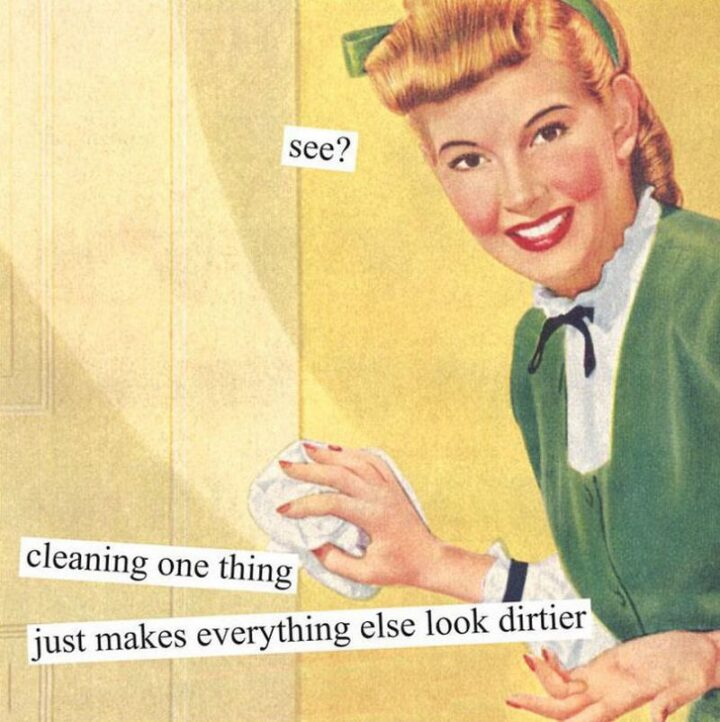 """""""See? Cleaning one thing just makes everything else look dirtier."""""""