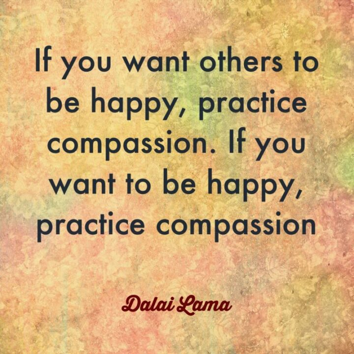 """""""If you want others to be happy, practice compassion. If you want to be happy, practice compassion."""" - Dalai Lama"""