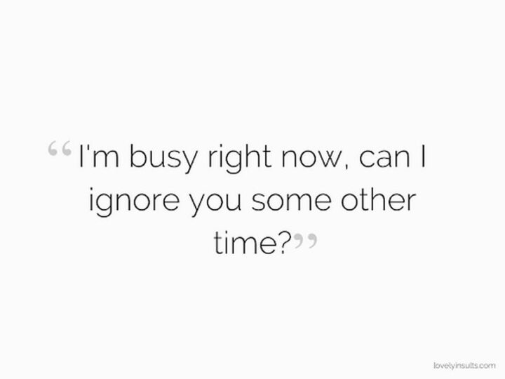 """67 Sarcastic Quotes - """"I am busy right now, can I ignore you some other time?"""""""